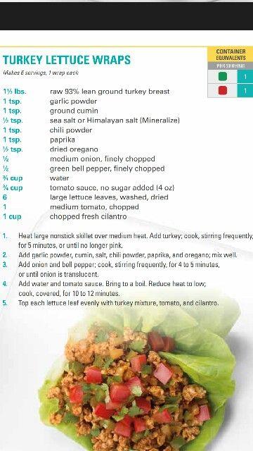 21 day fix turkey lettuce wraps yumm