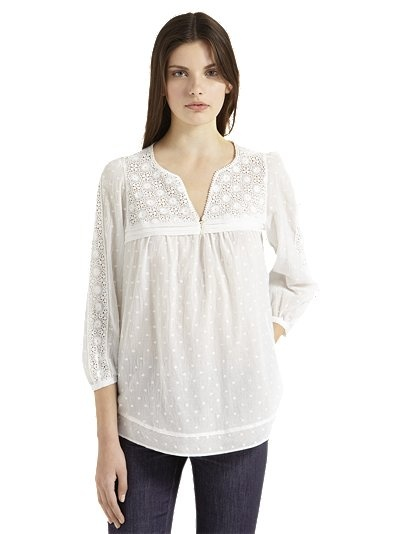 Gerard Darel Embroidered Blouse