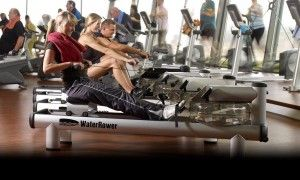 Which muscles are used when rowing?
