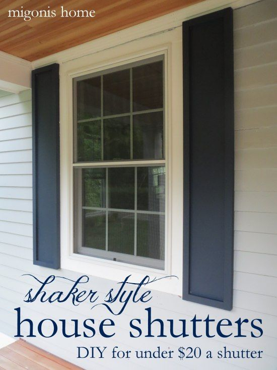 Captivating How To Make Shaker Style Shutters For Under $20 A Shutter By Migonis Home Ideas