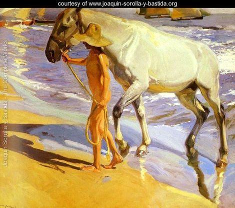 El bano del caballo (The Horse's Bath) - Joaquin Sorolla y Bastida - www.joaquin-sorolla-y-bastida.org