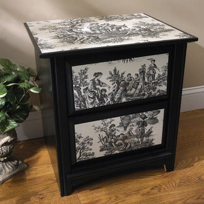 Decoupage On Furniture | Beauty and the Green: Drab To Fab - Old Dresser Makeover