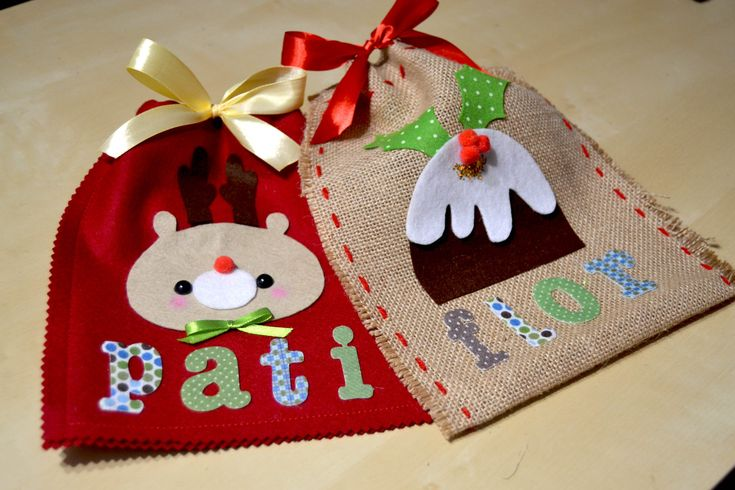 Sacos navideños fáciles