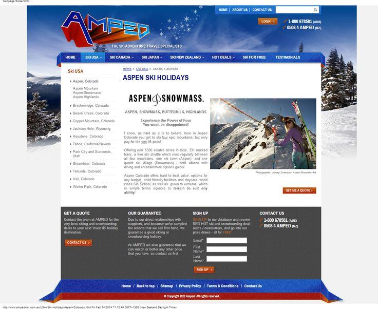 Amped 4 Ski - before we started work on the site. www.amped4ski.com.au