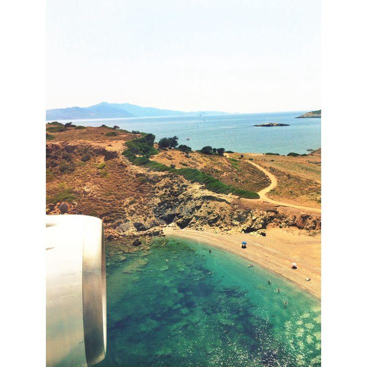 A beautiful landing scene I caught when arriving on Skiathos island, Greece.