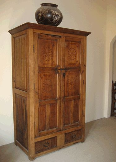 Hacienda Armoire - Handcrafted from antique doors