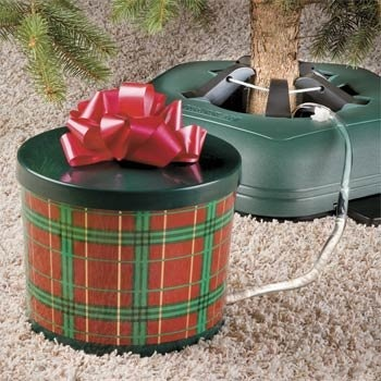 $12.99-$19.99 Ever-Green Seasons Christmas Tree Watering System, Round Plaid Gift Box with Red Bow - The Ever-Green Season's square watering system is the easy way to water your Christmas tree. You will water your tree less frequently with this watering system and it will save you from crawling under the tree, rearranging presents and spilling water. The Ever-Green watering system is disguised a ...