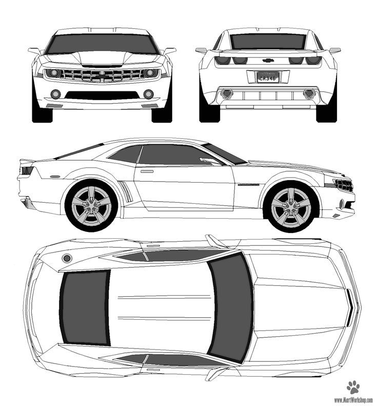 car blueprint - Google Search | car blueprint | Camaro ...