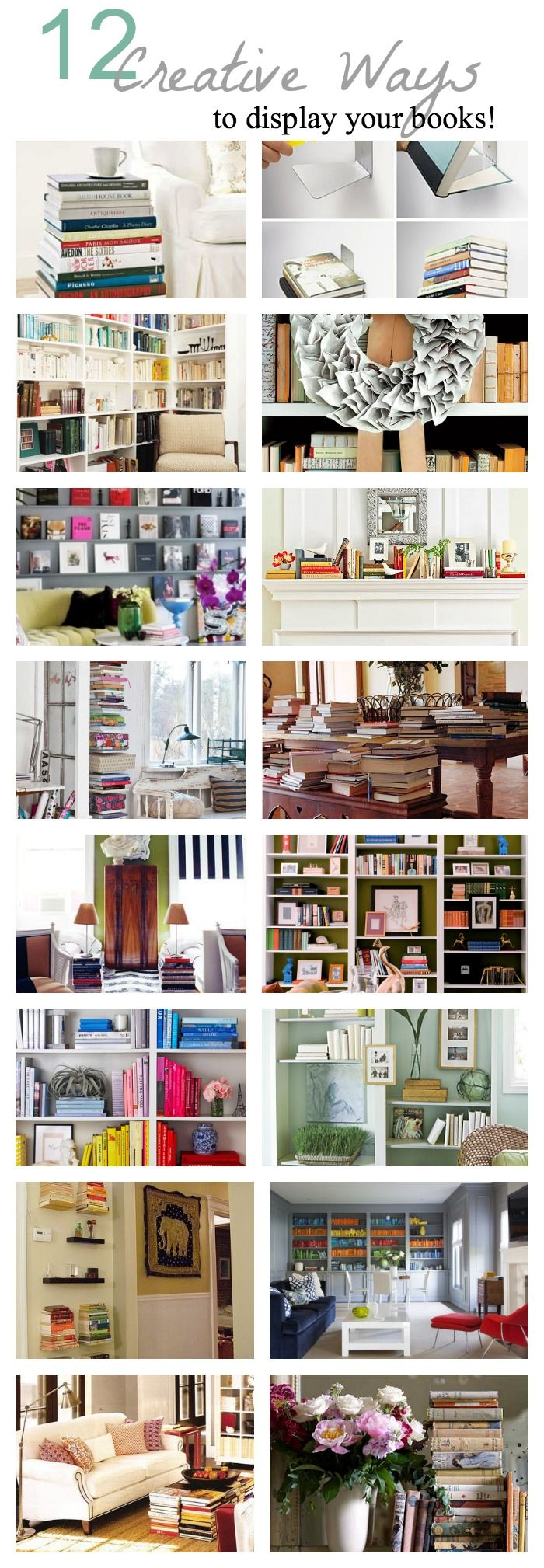 12 Creative ways to display your books!