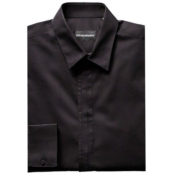 Emporio Armani Dress Shirt (6.015 RUB) ❤ liked on Polyvore featuring men's fashion, men's clothing, men's shirts, men's dress shirts, black, mens dress shirts, men's patterned dress shirts, mens patterned shirts, mens cotton shirts and mens floral print dress shirts