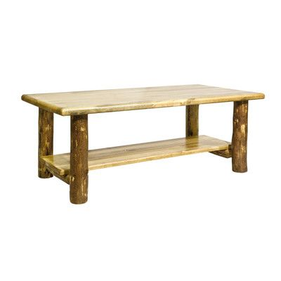 Montana Woodworks® Glacier Country Coffee Table with Shelf