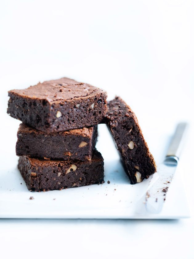 fudgy chocolate and hazelnut brownies from donna hay