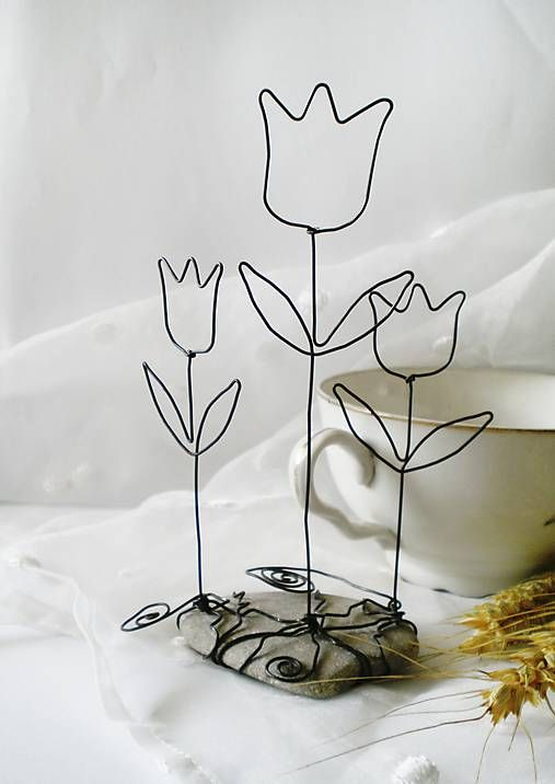 226 Best Images About Wire Art Flowers On Pinterest