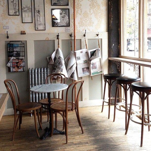 Coffee Shop Design | Retail Design | Ost Cafe | New York (love the cozy design)
