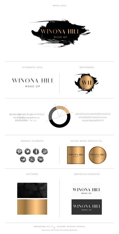 Black And Gold Logo Design Brand Kit Photography Logo Watermark