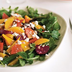 This beet salad is full of bright colors and flavors, with sweet beets playing off tangy lime and orange.
