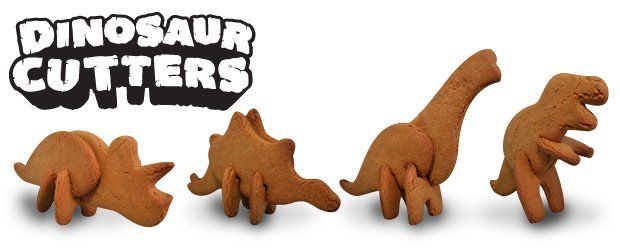 Amazing cookie cutters for kids. Get them baking and having fun at the same time. Make 3D dinosaur cookies. Design by SUCK UK