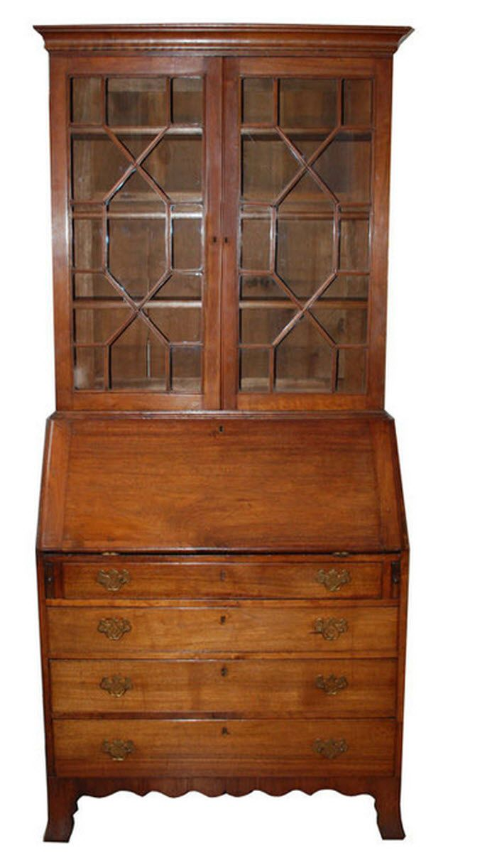 This israel sack american federal mahogany antique lolling arm chair - View This Item And Discover Similar Secretaires For Sale At American Federal Period Secretary Desk With Three Adjustable Shelves Behind Two Paned