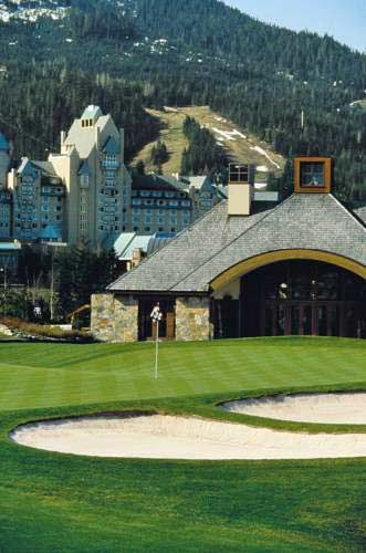 Golf course, The Fairmont Chateau Whistler Hotel, BC, Canada http://www.wanderplanet.com/whistler-travel-canada-whistler-hotel-vacation-attractions/
