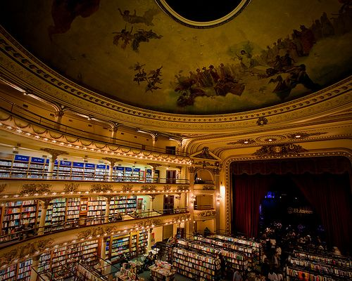 The El Ateneo  Formerly a theater, The El Ateneo is now a book store located in Buenos Aires, Argentina