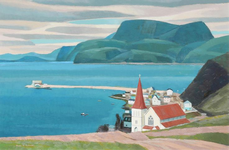 """""""On Fortune Bay, Nfld,"""" Alan Caswell Collier, 1990, oil on canvas, 24 x 36"""", private collection."""