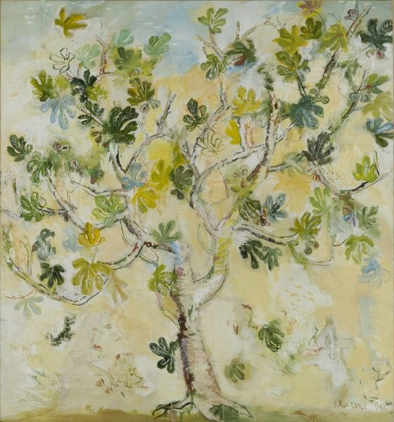 Giannis Kottis (Greek, b. 1949), Fig Tree, 1994. Mixed media on canvas, 222 x 207.5 cm.