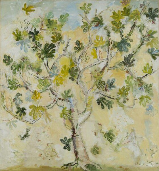 Giannis Kottis (Greek, b. 1949), Fig Tree, 1994. Mixed media on canvas, 222 x 207.5 cm.