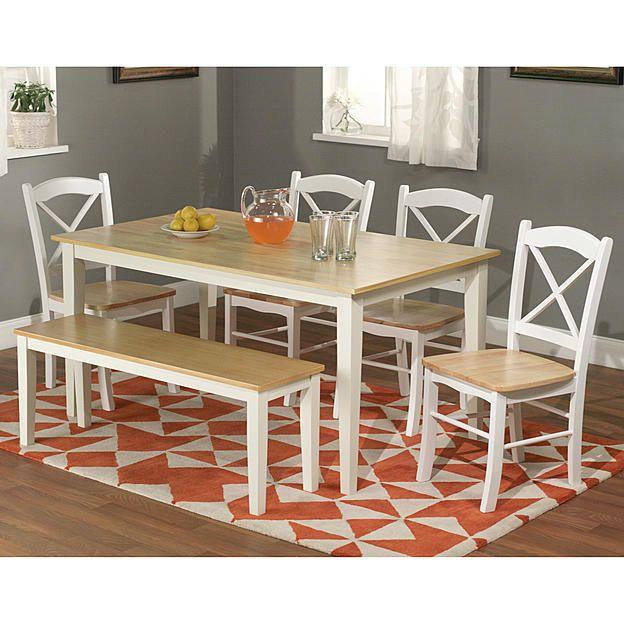 6pc Tiffany dining set with bench. Farmhouse ... - Best 10+ Dining Set With Bench Ideas On Pinterest Wood Tables