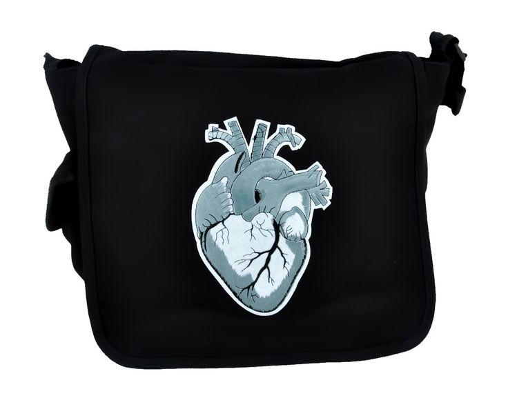 Anatomical Heart Messenger Crossbody Bag School Work Medical Student