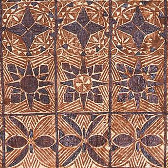 Tapa cloth - Samoan painted and beaten bark cloth