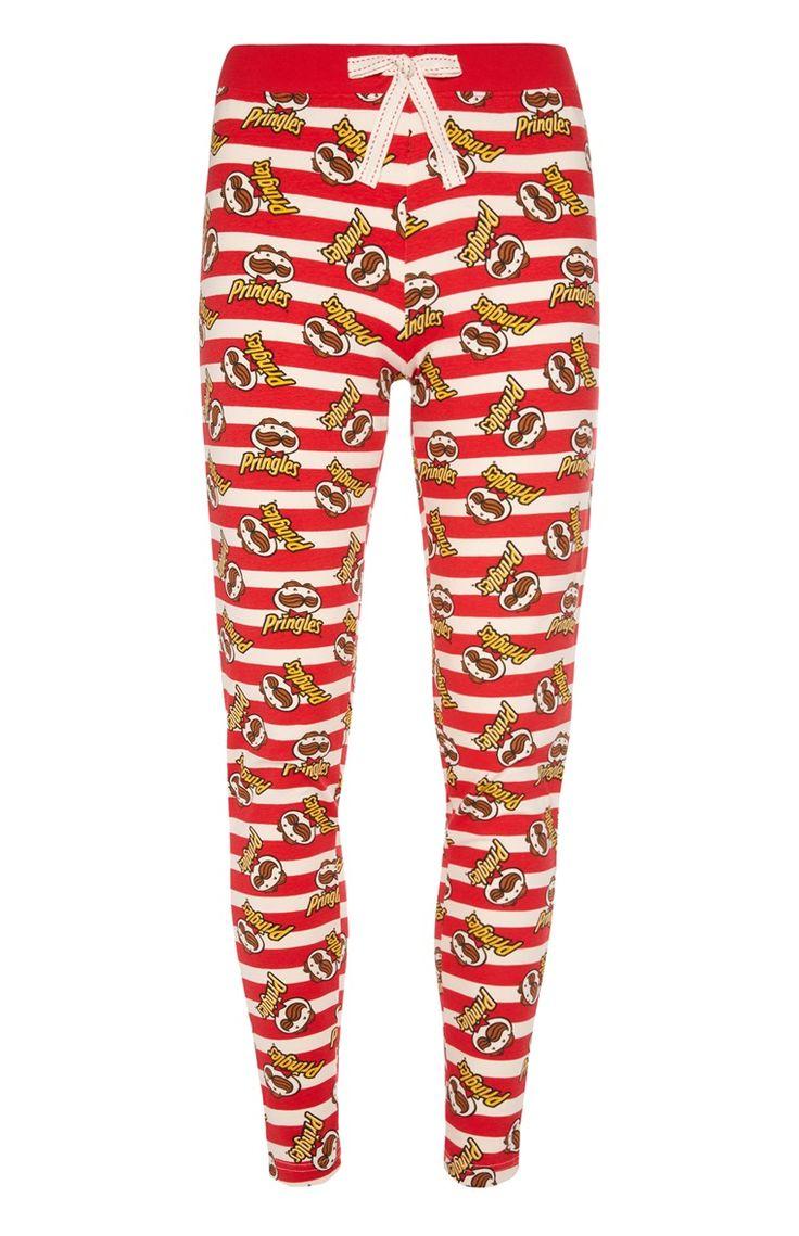 Primark - Rode pyjamalegging met Pringle-print