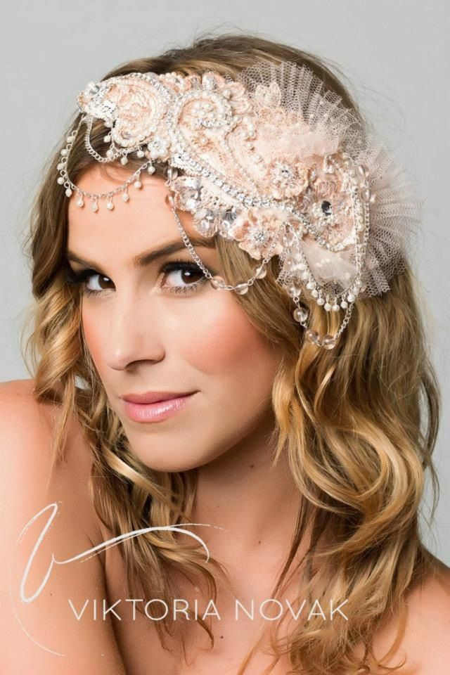 Looking for something different perhaps for your wedding day or a special occasional event? Check out Viktoria Novak's 2013 collections - www.viktorianovak.com.au or email us info@viktorianovak.com.au   Exclusive one-off custom handmade headpiece style name (Enchanted)   Viktoria Novak Photography   Ben Scott Photography