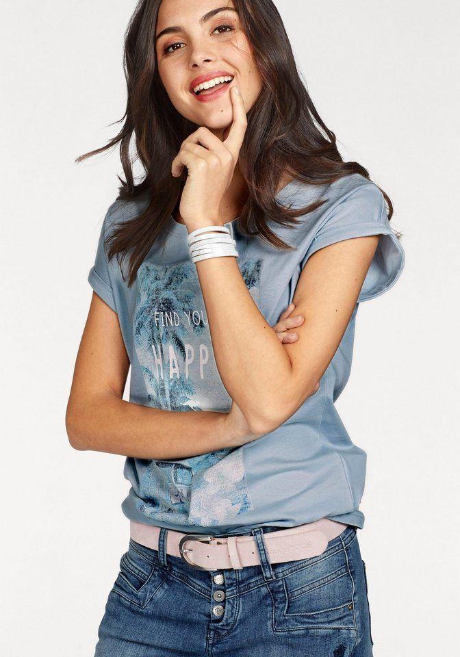 KangaROOS T-Shirt weite Form mit großem Hawaii Retro Front-Print    Pinterest   Kangaroos 7c496f95e4