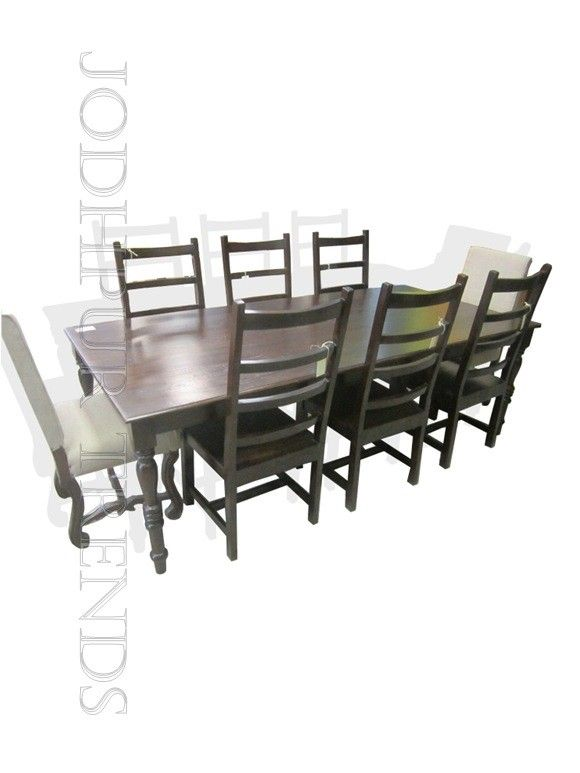 This #Diningset Is A Comfortable Table For Eight. This Stylish Piece Of  Furniture Is
