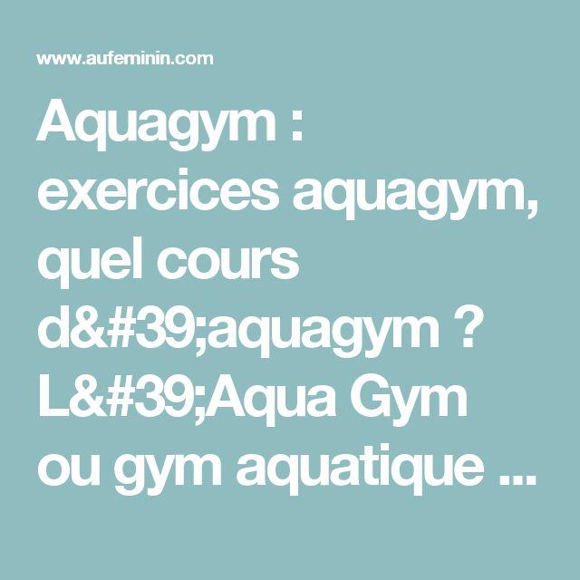 Favorit Les 25 meilleures idées de la catégorie Exercices aquagym sur  QG07