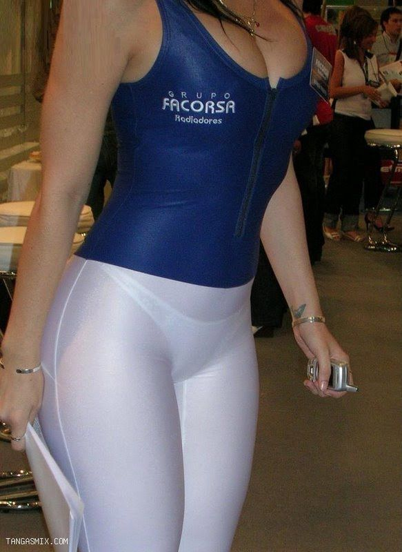 Asian Shemales In Shiny Skintight Spandex Shorts