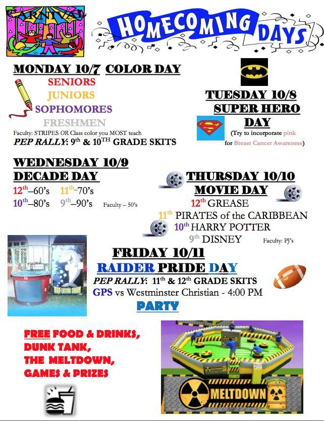 spirit week ideas Go Back > Gallery For > School Spirit