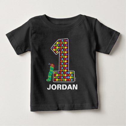 The Hungry Caterpillar Chalkboard 1st Birthday Baby T-Shirt - toddler birthday bday ideas presents diy cyo