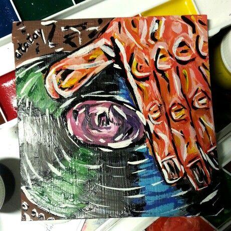 Art space drawind by atatay космос, музыка, пластинка, винил, диджей, dj рисунок, ататай