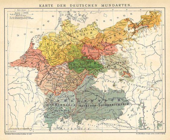 Map Of Germany 1900.Mundarten Des Deutschen Volkes A Map Of German Dialects C 1900