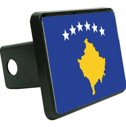 Kosovo Flag Trailer Hitch Cover