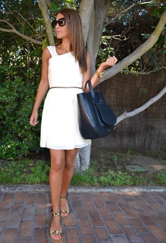 Paula Echevarria, en vestido blanco de Arimika