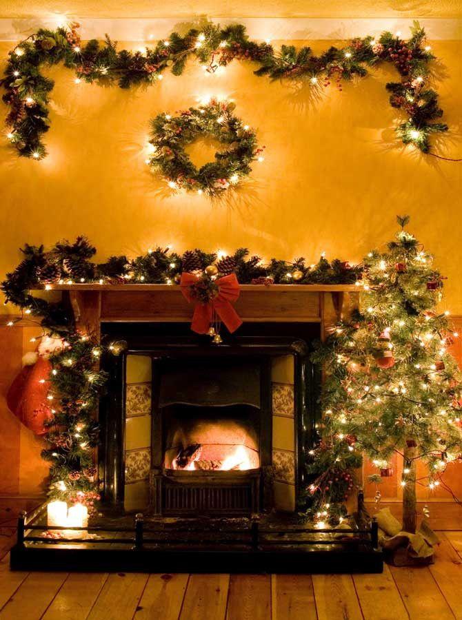 Garland mantle christmas and Christmas mantles