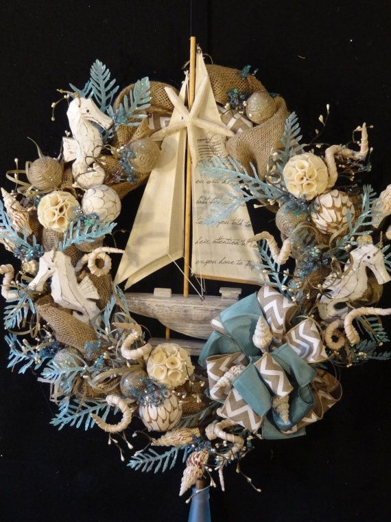 117 Best Wreaths Nautical Images On Pinterest Beach