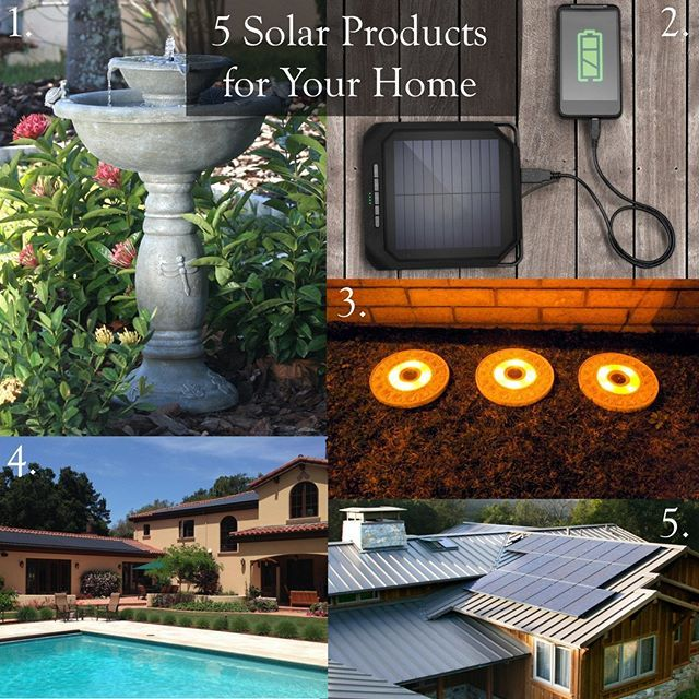 Here are 5 awesome solar products for your home perfect for that sunny San Diego weather! 1. Water Fountain 2. USB Charging Station 3. Solar Stepping Stones 4. Solar Pool Heater 5. Solar Panels . . . . . #solarproducts #solar #gogreen #greenhome #ecofriendly  #pointloma #pointlomasandiego #sandiego #sandiegopointloma #imperialbeach #pointlomarealtor #realtor #sandiegorealtor #sandiegorealestate #realestateagent #realestatebroker #imperialbeachsandiego #grossmonthills #lamesa #lamesarealtor…
