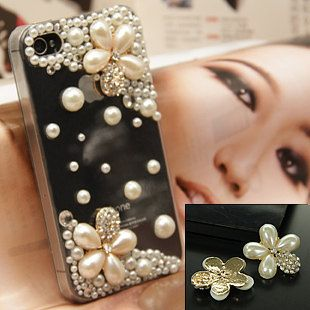 Pearls and pearl flowers diy phone case kit by Chriszcraftstuff, $8.95