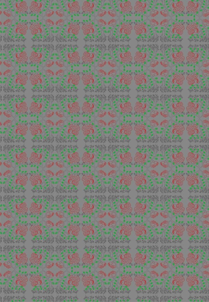 Rose Branch pattern design