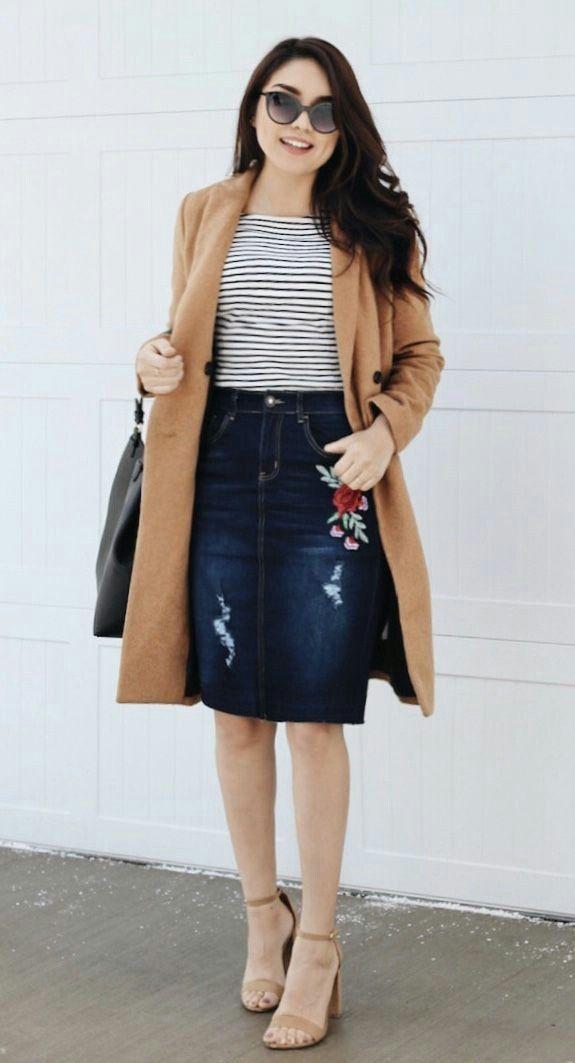 00761214a Pin de ¡Hilo suelto! en Look! en 2019 | Faldas de jean, Ropa ...