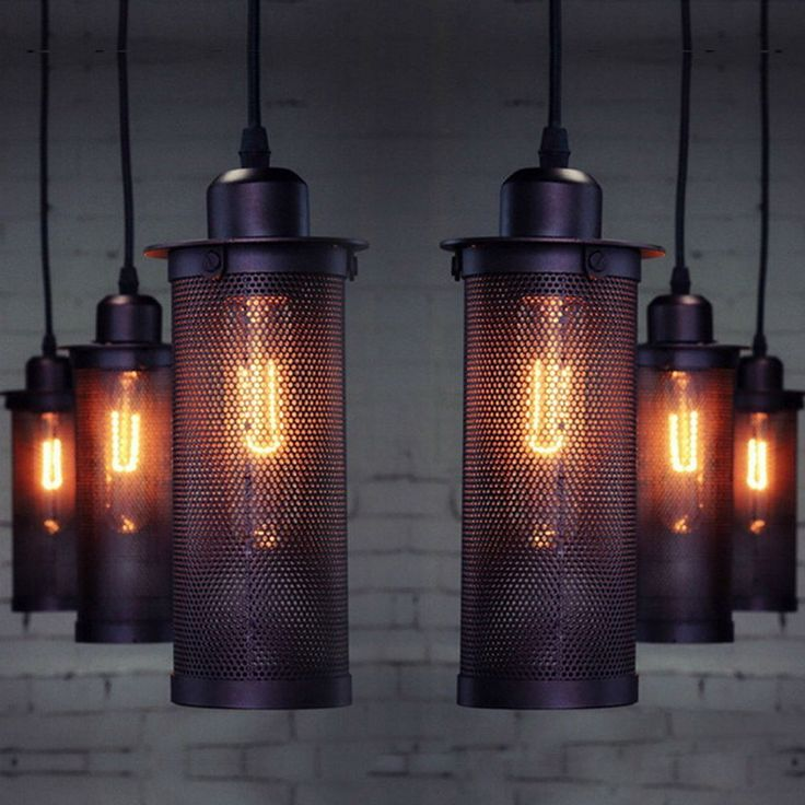 New Vintage Industrial DIY Ceiling Lamp Edison Light chandelier Pendant Lighting #Unbranded #Country