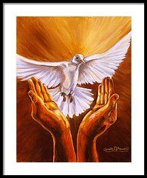 Come Holy Spirit Framed Print by Carole Powell